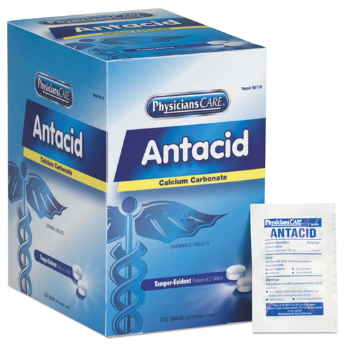 Over The Counter Antacid Medications For First Aid Cabinet, 250 Doses-box