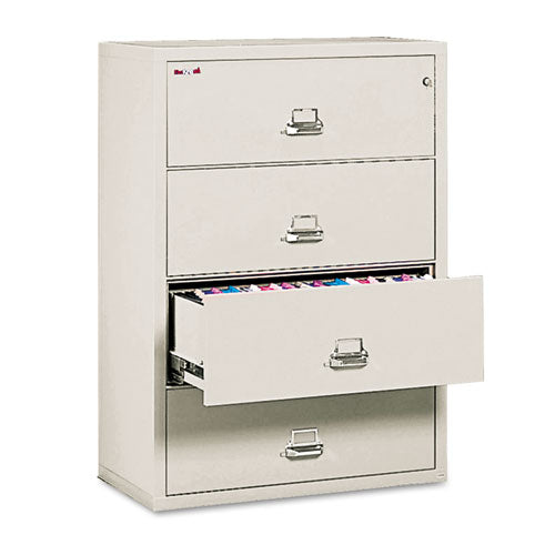 Four-drawer Lateral File, 37.5w X 22.13d X 52.75h, Letter-legal, Parchment