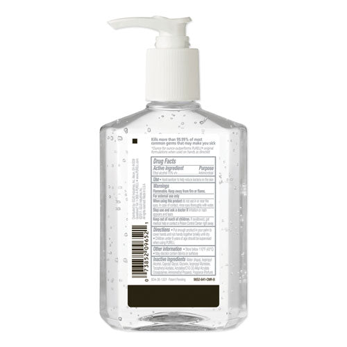 Advanced Refreshing Gel Hand Sanitizer, Clean Scent, 8 Oz Pump Bottle