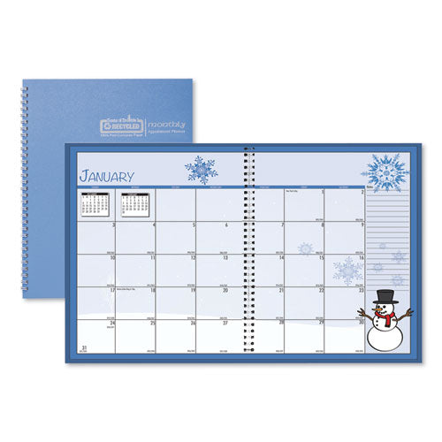 Seasonal Monthly Academic Planner, 10 X 7, Light Blue, 2020-2021