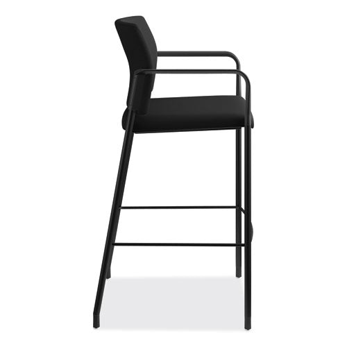 Accommodate Series Café Stool, Supports Up To 300 Lbs., Black Seat-black Back, Black Base