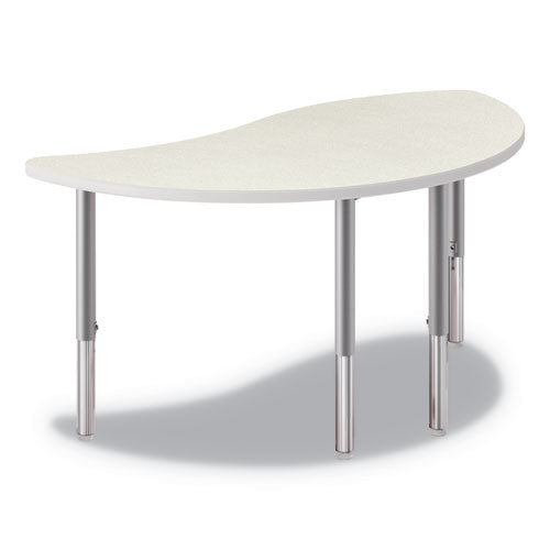 Build Wisp Shape Table Top, 54w X 30d, Silver Mesh