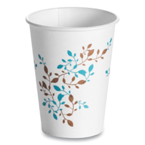 Single Wall Hot Cups 12 Oz, Vine, 1,000-carton