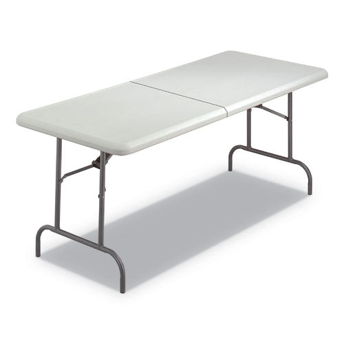 Indestructables Too 1200 Series Folding Table, 72w X 18d X 29h, Platinum
