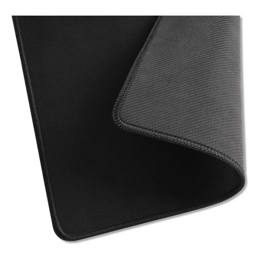 Large Mouse Pad, Nonskid Base, 9 7-8 X 11 7-8 X 1-8, Black