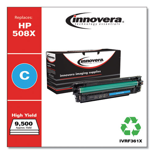 Remanufactured Cyan High-yield Toner, Replacement For Hp 508x (cf361x), 9,500 Page-yield