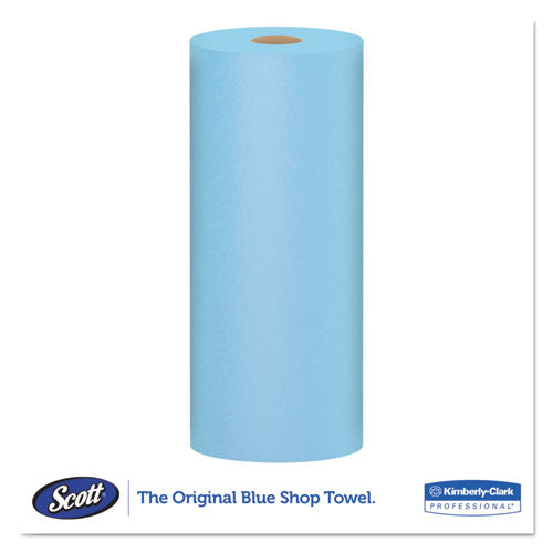 Shop Towels, Standard Roll, 10.4 X 11, Blue, 55-roll, 12 Rolls-carton