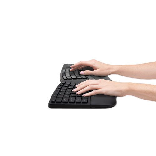 Pro Fit Ergo Wireless Keyboard, 18.98 X 9.92 X 1.5, Black