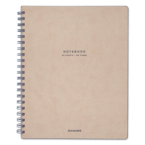 Collection Twinwire Notebook, 1 Subject, Wide-legal Rule, Tan-navy Blue Cover, 11 X 8.75, 80 Sheets