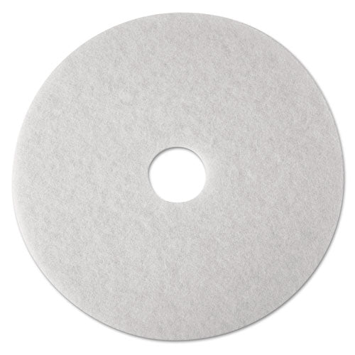 "Low-speed Super Polishing Floor Pads 4100, 24"" Diameter, White, 5-carton"