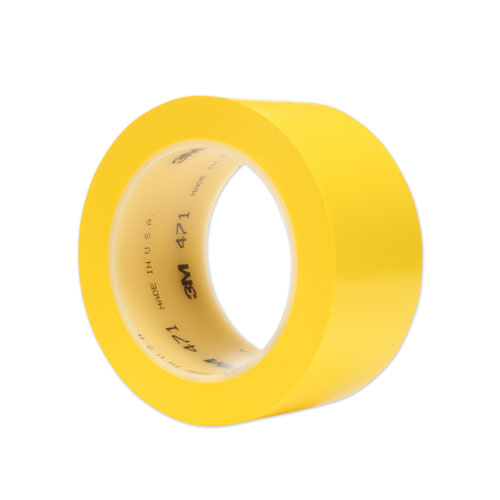 "Vinyl Floor Marking Tape 471, 2"" X 36 Yds, Yellow"