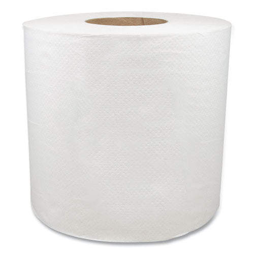 "Morsoft Center-pull Roll Towels, 7.5"" Dia., White, 600 Sheets-roll, 6 Rolls-carton"