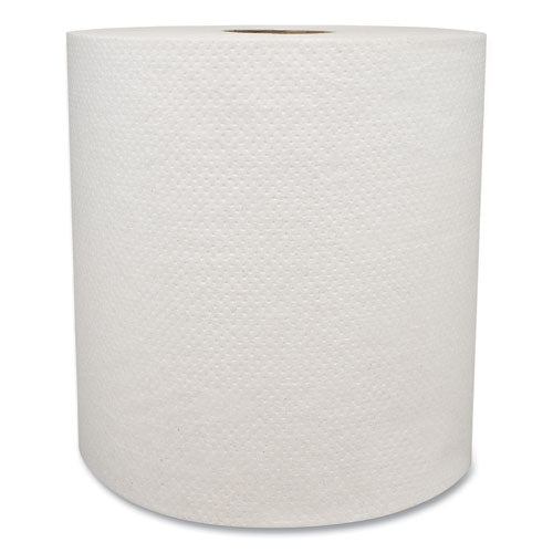 "Morsoft Universal Roll Towels, 8"" X 800 Ft, White, 6 Rolls-carton"