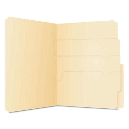 Divide It Up File Folders, 1-2-cut Tabs, Letter Size, Manila, 24-pack