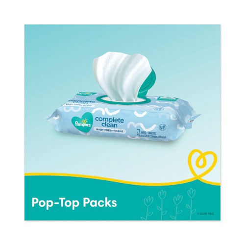 Complete Clean Baby Wipes, 1-ply, Baby Fresh, 72 Wipes-pack, 8 Packs-carton