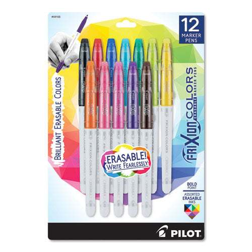 Frixion Colors Erasable Stick Marker Pen, 2.5 Mm, Assorted Ink-barrel, 12-set