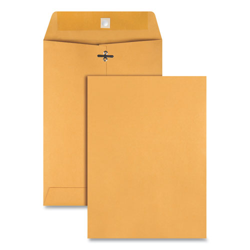 Clasp Envelope, #75, Cheese Blade Flap, Clasp-gummed Closure, 7.5 X 10.5, Brown Kraft, 100-box