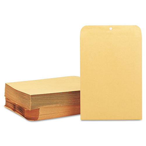 Clasp Envelope, #90, Cheese Blade Flap, Clasp-gummed Closure, 9 X 12, Brown Kraft, 100-box