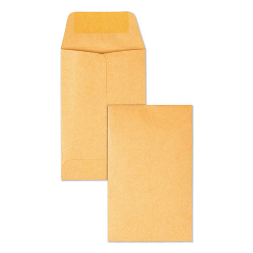 Kraft Coin And Small Parts Envelope, #1, Square Flap, Gummed Closure, 2.25 X 3.5, Brown Kraft, 500-box