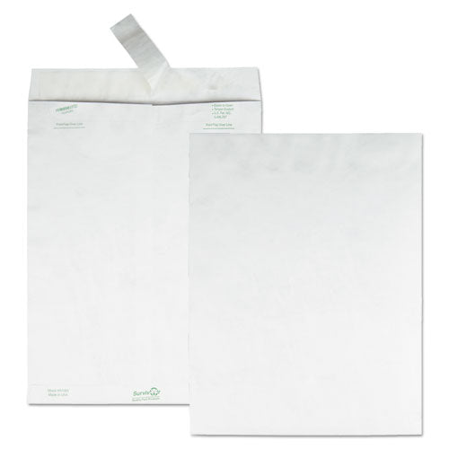 Catalog Mailers, Dupont Tyvek, #6 1-2, Cheese Blade Flap, Redi-strip Closure, 6 X 9, White, 20-pack