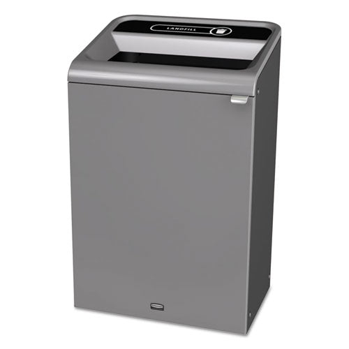 Configure Indoor Recycling Waste Receptacle, 23 Gal, Gray, Landfill
