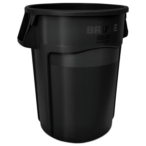 Round Brute Container, Plastic, 10 Gal, Gray