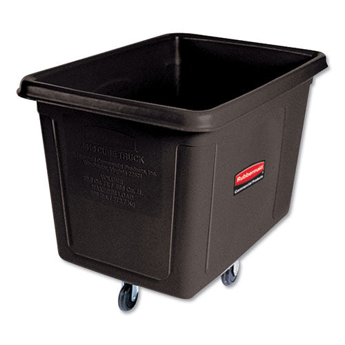 Cube Truck, Rectangular, 600 Lb Capacity, Black