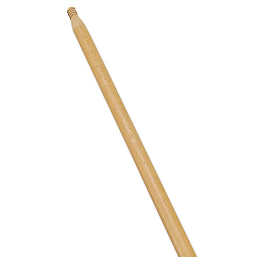 "Standard Threaded-tip Broom-sweep Handle, 54"", 1-5-16""dia, Wood, Dozen"