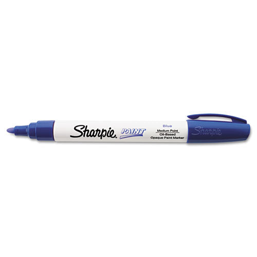 Permanent Paint Marker, Medium Bullet Tip, Blue