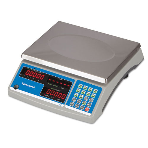 Electronic 60 Lb Coin & Parts Counting Scale, 11 1-2 X 8 3-4, Gray