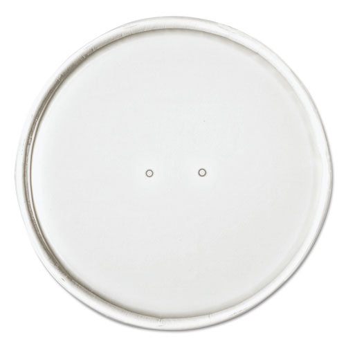"Paper Lids For 32oz Food Containers, White, Vented, 4.6""dia, 25-bag, 20 Bg-ctn"