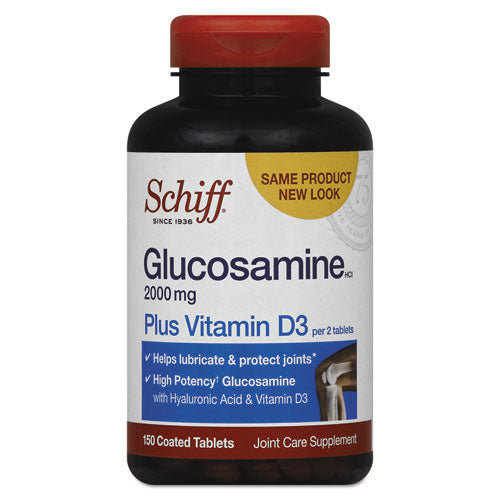 Glucosamine 2000 Mg Plus Vitamin D3 Coated Tablet, 150 Count