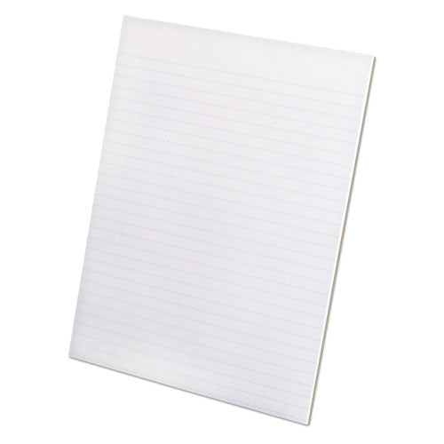 Recycled Glue Top Pads, Wide-legal Rule, 8.5 X 11, White, 50 Sheets, Dozen