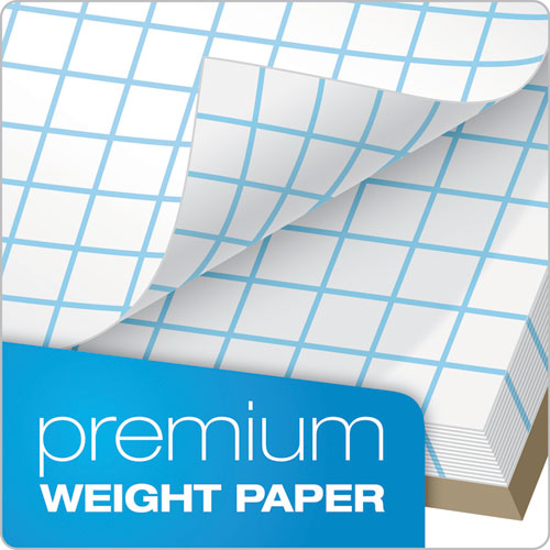 Quadrille Pads, 10 Sq-in Quadrille Rule, 8.5 X 11, White, 50 Sheets