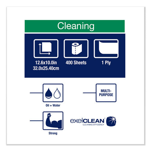 Heavy-duty Cleaning Cloth, 12.6 X 10, White, 400-carton