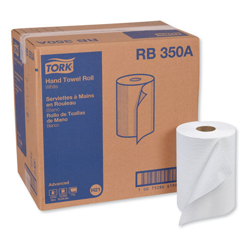 "Advanced Hardwound Roll Towel, 7.88"" X 350 Ft, White, 12 Rolls-carton"