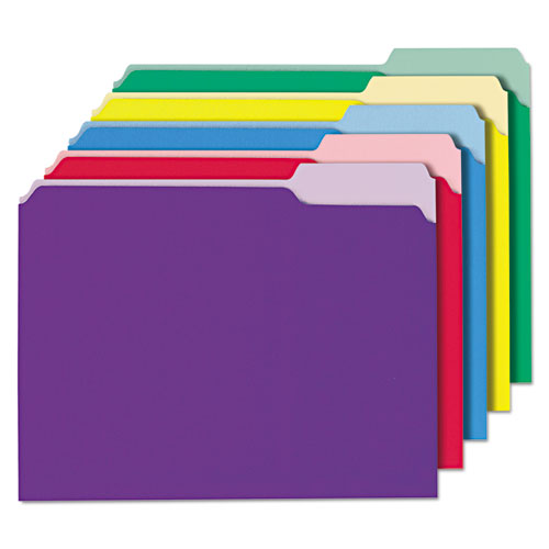 Interior File Folders, 1-3-cut Tabs, Letter Size, Assorted, 100-box