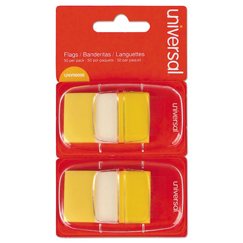 Page Flags, Yellow, 50 Flags-dispenser, 2 Dispensers-pack