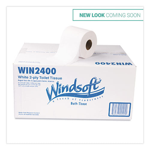 Bath Tissue, Septic Safe, 2-ply, White, 4 X 3.75, 400 Sheets-roll, 24 Rolls-carton