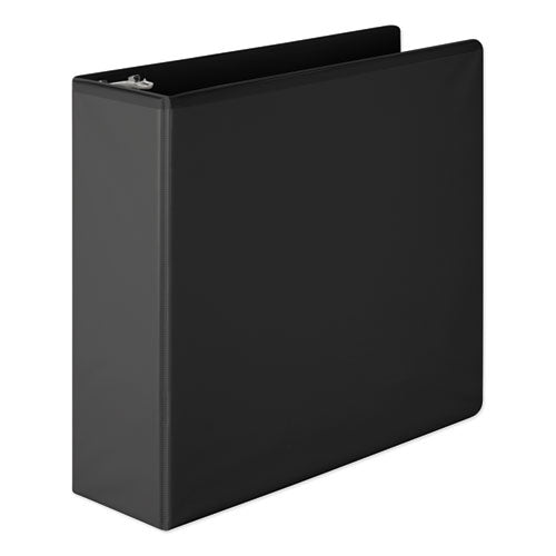 "Heavy-duty Round Ring View Binder With Extra-durable Hinge, 3 Rings, 3"" Capacity, 11 X 8.5, Black"