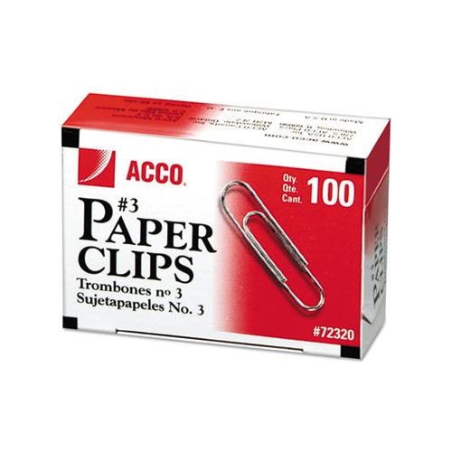 Paper Clips, Small (no. 3), Silver, 1,000-pack