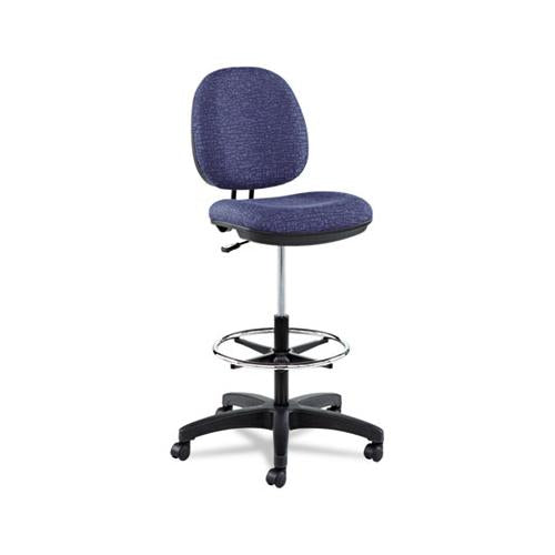 "Alera Interval Series Swivel Task Stool, 33.26"" Seat Height, Supports Up To 275 Lbs, Marine Blue Seat-marine Blue Back"