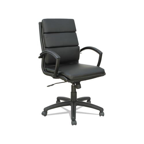 Alera Neratoli Mid-back Slim Profile Chair, Supports Up To 275 Lbs, Black Seat-black Back, Black Base