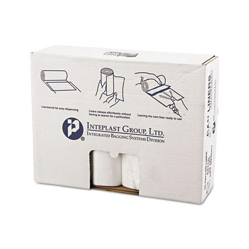 "High-density Commercial Can Liners Value Pack, 60 Gal, 12 Microns, 38"" X 58"", Clear, 200-carton"