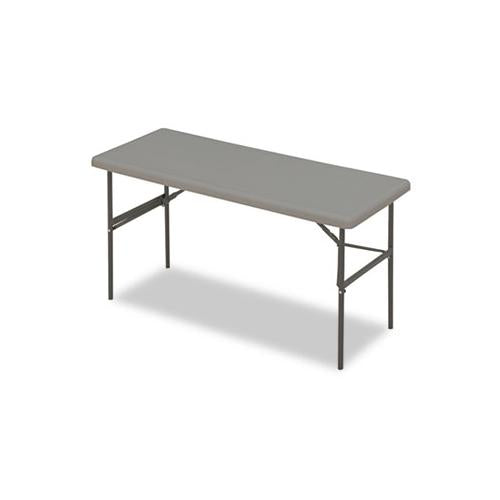 Indestructables Too 1200 Series Folding Table, 60w X 24d X 29h, Charcoal