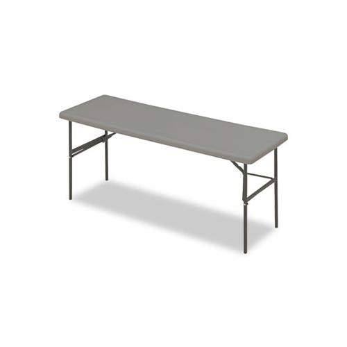 Indestructables Too 1200 Series Folding Table, 72w X 24d X 29h, Charcoal