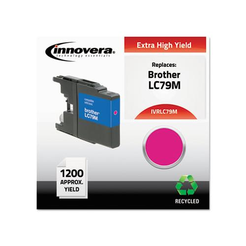 Remanufactured Magenta Extra High-yield Ink, Replacement For Brother Lc79m, 1,200 Page-yield
