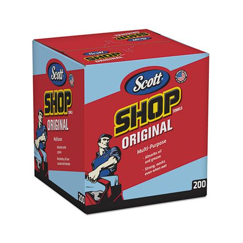 Shop Towels, Pop-up Box, Blue, 10 X 12, 200-box, 8 Boxes-carton