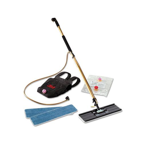 "Easy Shine Applicator Kit W-backpack, 18"" Pad, 43"" - 63"" Handle, Gold-black"