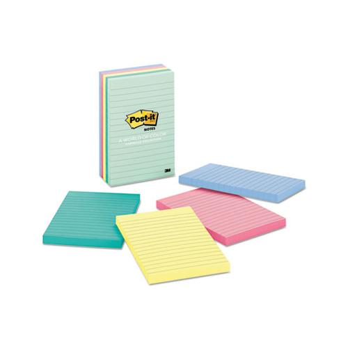 Original Pads In Marseille Colors, Lined, 4 X 6, 100-sheet, 5-pack